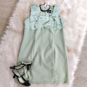 Pretty VANY NY Seafoam Green Dress with Satin Top!